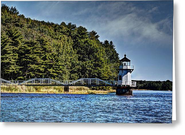 Mid-coast Maine Greeting Cards - Doubling Point Lighthouse Greeting Card by Deborah Klubertanz
