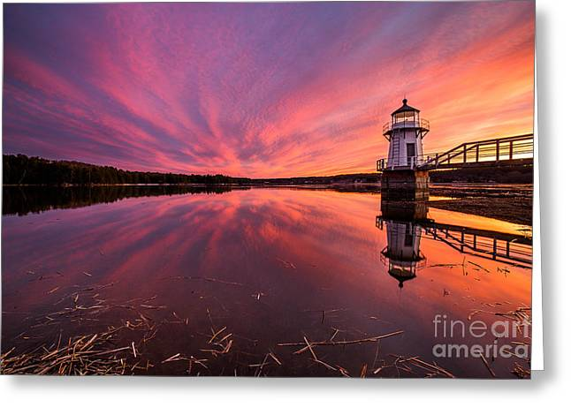 Doubling Point Sunset Greeting Card by Benjamin Williamson