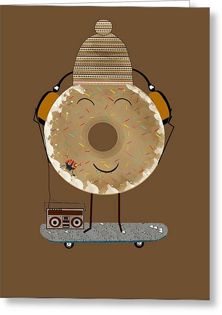 Skateboarding Greeting Cards - Doughnut Jam  Greeting Card by Bri Buckley