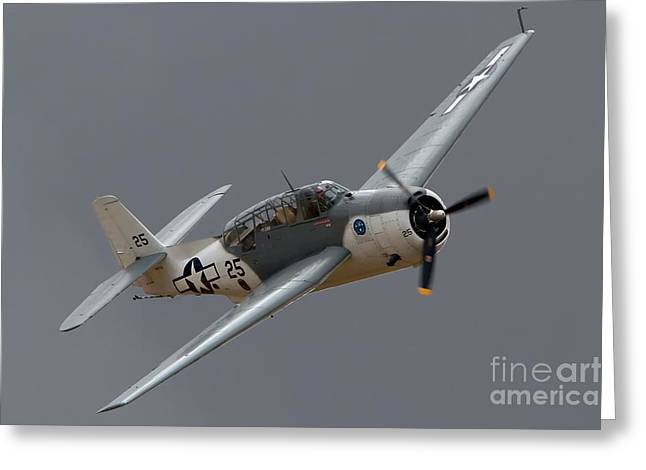 Planes Of Fame Greeting Cards - Douglas TBF Avenger 2011 Chino Planes of Fame Greeting Card by Gus McCrea