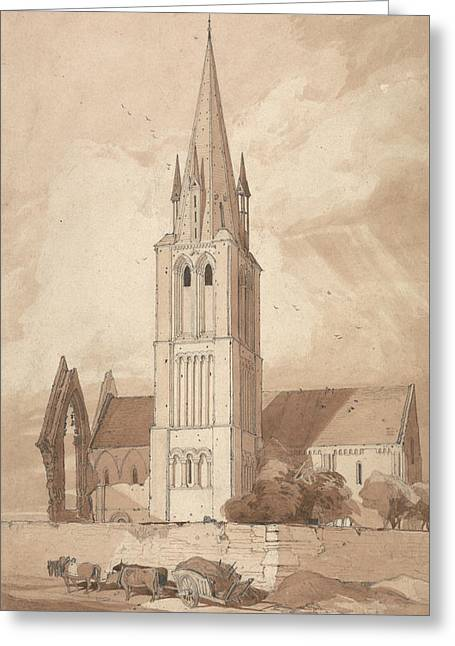 Douvres Church, Normandy Greeting Card by John Sell Cotman