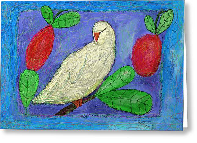 Dove On A Branch-greeting Card Greeting Card by Ian Roz