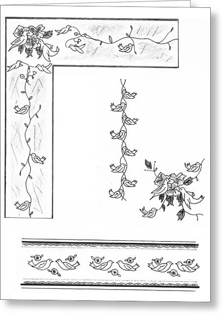 Dove Drawings Greeting Cards - Dove Patterns Greeting Card by John Keaton