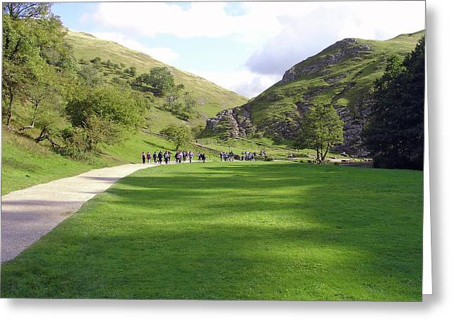 Dovedale Greeting Card by Rod Johnson