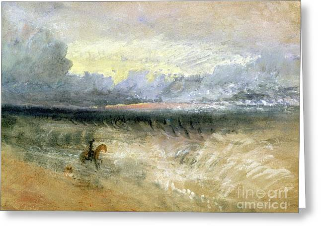 Waves Pastels Greeting Cards - Dover  Greeting Card by Joseph Mallord William Turner