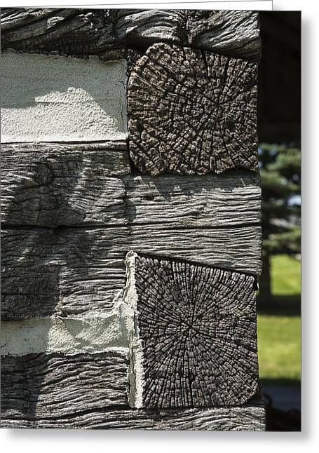 Log Cabin Photographs Greeting Cards - Dovetail Log Structure Greeting Card by Donald  Erickson