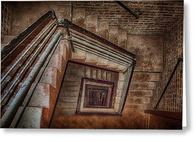 Down And Around - Staircase Greeting Card by Nikolyn McDonald