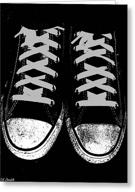 Shoe String Greeting Cards - Down and Dirty Greeting Card by Ed Smith