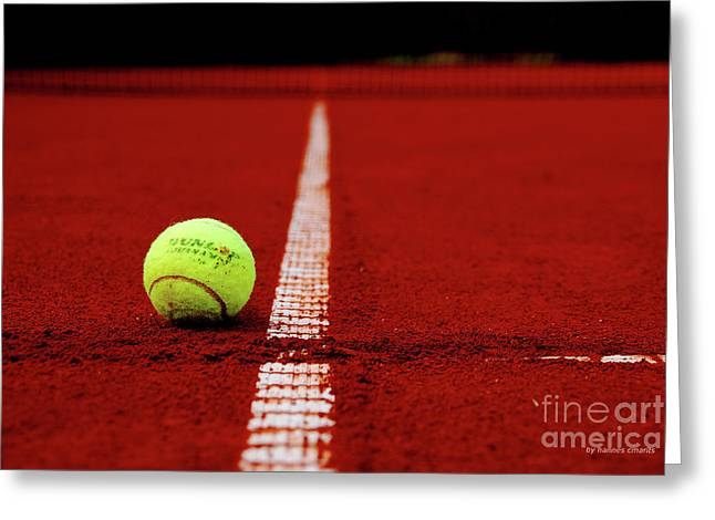 Tennis Court Greeting Cards - Down And Out Greeting Card by Hannes Cmarits