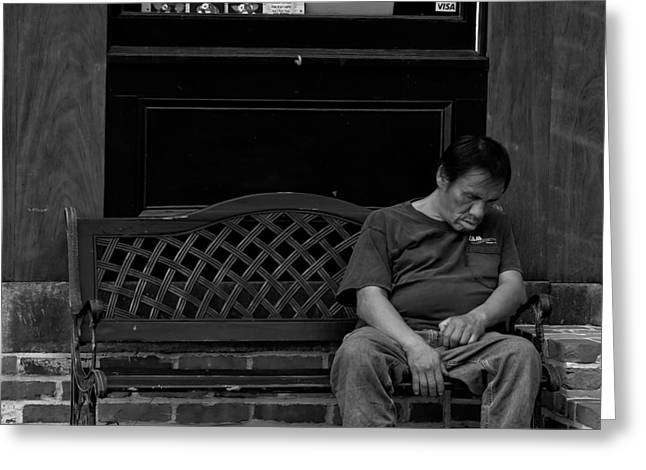 Canon 40d Greeting Cards - Down and Out in Baltimore Greeting Card by Brian Murphy