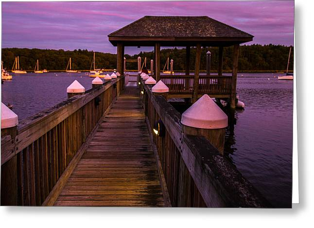 Down At The Dock Greeting Card by Karol Livote