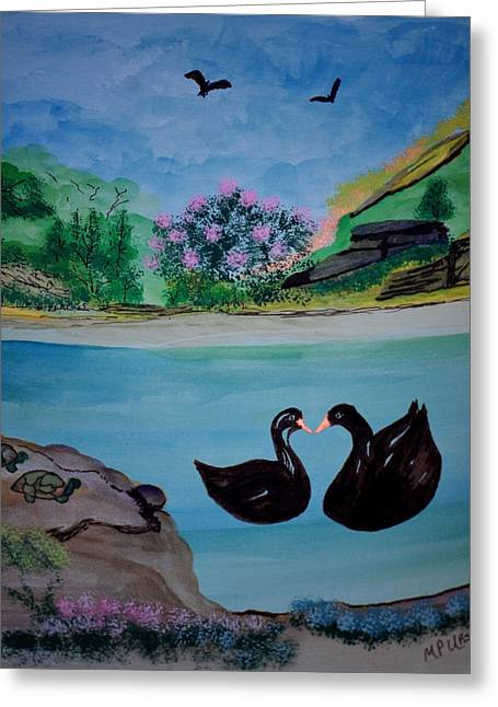 Pairs Greeting Cards - Down at Turtle Rock Greeting Card by Maria Urso