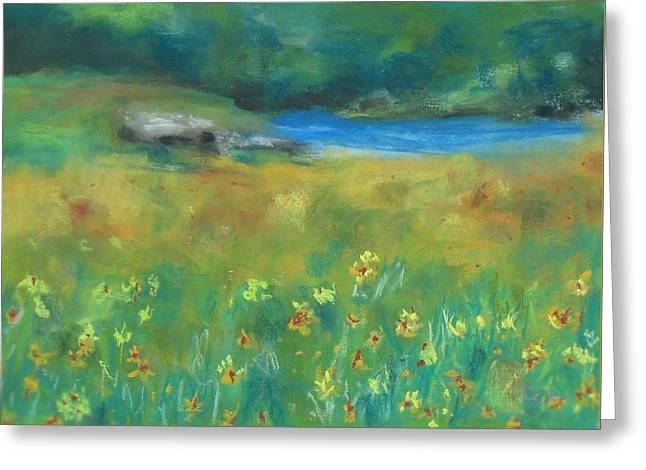 Willow Lake Greeting Cards - Down by the Lake Greeting Card by Tamala Carter