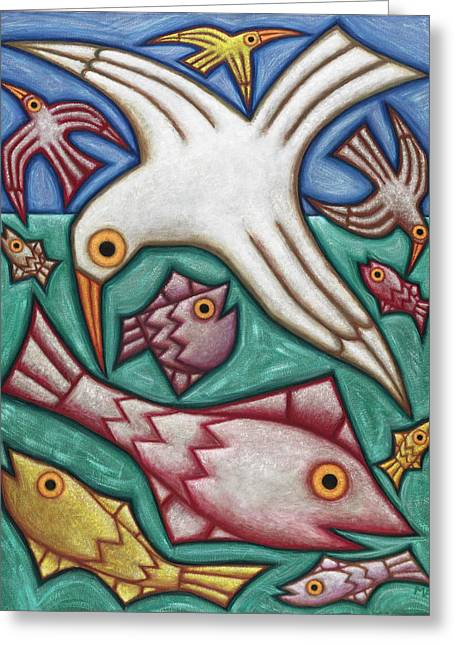 Recently Sold -  - Decorative Fish Greeting Cards - Down By the Sea Greeting Card by Mary Anne Nagy