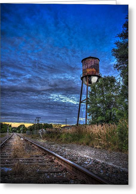 Down By The Tracks Greeting Card by Marvin Spates