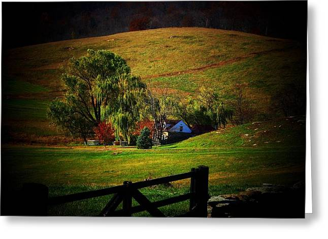 Virginia Farm Greeting Cards - Down In the Valley Greeting Card by Joyce Kimble Smith