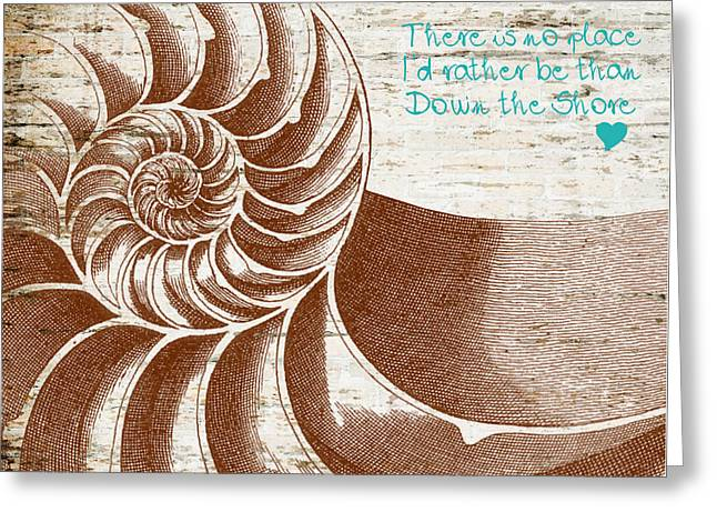 Down The Shore Nautilus Greeting Card by Brandi Fitzgerald