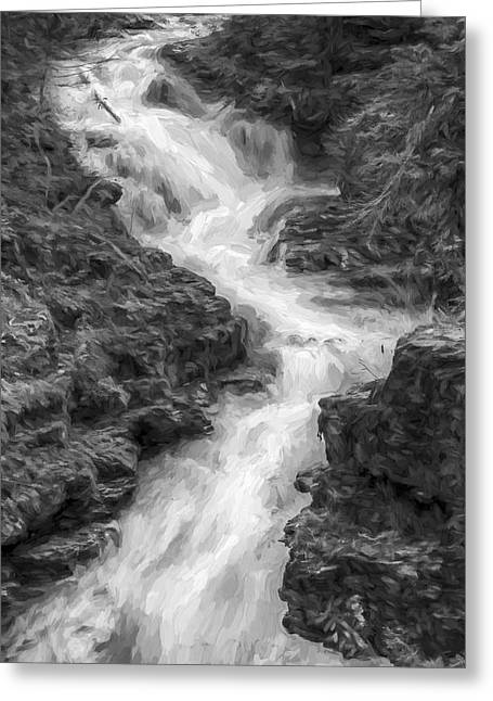 Down The Stream II Greeting Card by Jon Glaser