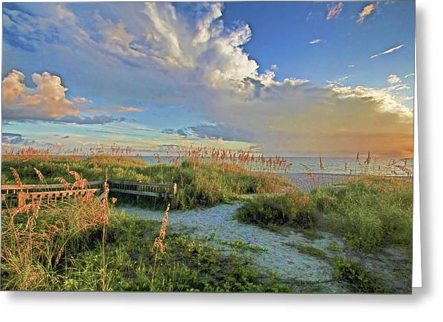 Walkway To The Beach Greeting Cards - Down To The Beach 2 - Florida Beaches Greeting Card by HH Photography of Florida