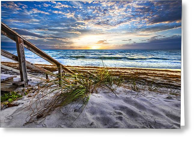 Sanddunes Greeting Cards - Down to the Shore Greeting Card by Debra and Dave Vanderlaan
