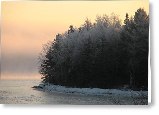 Winter In Maine Greeting Cards - Downeast 8 Greeting Card by Cat Encio