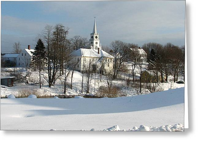 Winter In Maine Greeting Cards - Downeat Maine 4 Greeting Card by Cat Encio