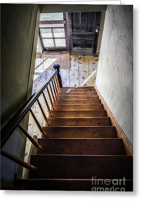 Downstairs Greeting Card by Scott Thorp