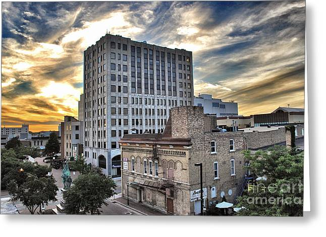 Downtown Appleton Photographs Greeting Cards - Downtown Appleton Skyline Greeting Card by Shutter Happens Photography