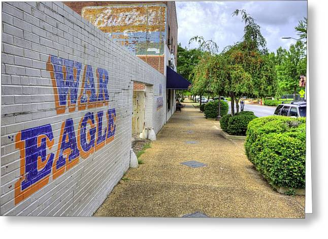 Sec Football Greeting Cards - Downtown Auburn Greeting Card by JC Findley