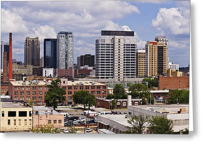 Alabama Photographs Greeting Cards - Downtown Birmingham Skyline Greeting Card by Jeremy Woodhouse