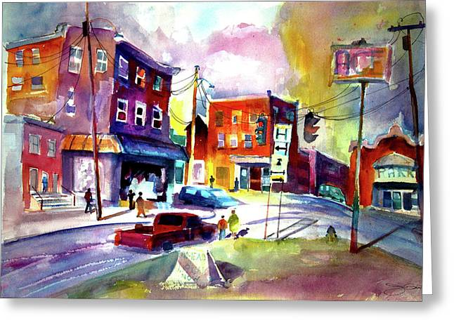 Downtown Cobleskill New York Greeting Card by Joseph Giuffrida