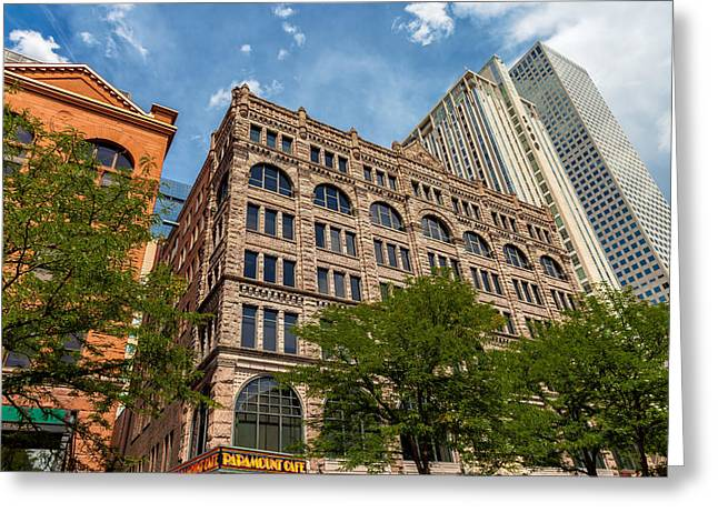 Midday.light Greeting Cards - Downtown Denver Greeting Card by Jonathan Nguyen