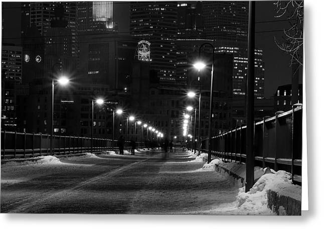 Minneapolis Skyline Greeting Cards - Downtown Greeting Card by Edward Congdon