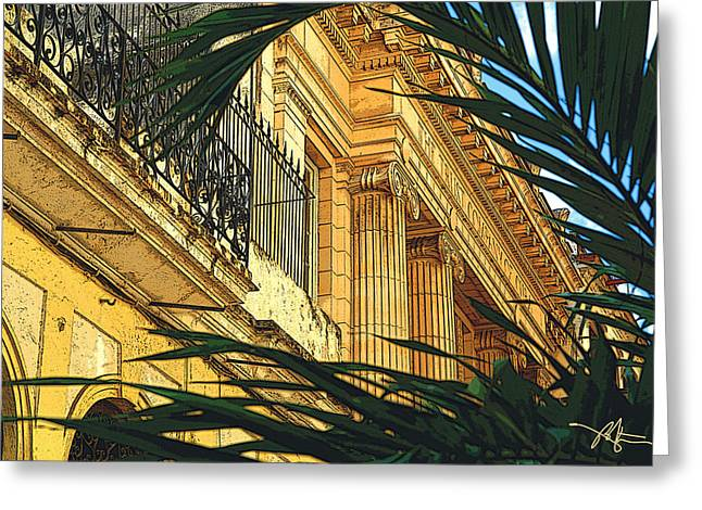 Havana Greeting Cards - Downtown Havana Greeting Card by Bob Salo