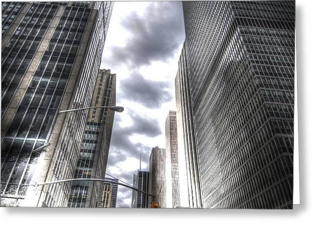 Downtown HDR Greeting Card by Robert Ponzoni