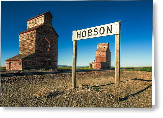 Downtown Hobson, Montana Greeting Card by Todd Klassy