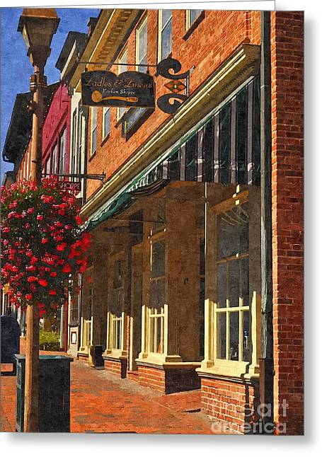 Vmi Greeting Cards - Downtown Lexington 2 Greeting Card by Kathy Jennings