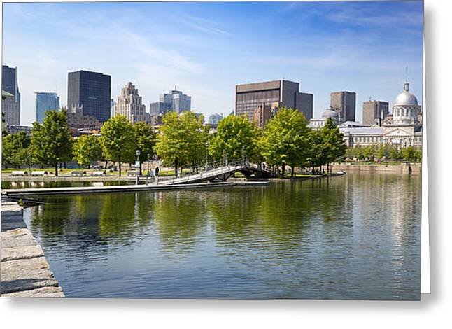 Downtown Montreal In Summer Greeting Card by Jane Rix