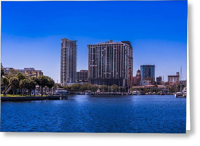Downtown St. Petersburg Greeting Card by Marvin Spates