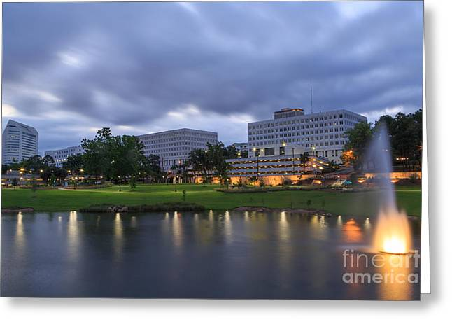 Jogging Greeting Cards - Downtown Tallahassee Greeting Card by Stephen Allen