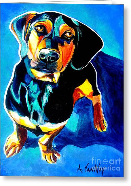Doxle - Tyson Greeting Card by Alicia VanNoy Call
