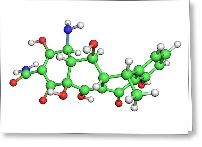 Infection Greeting Cards - Doxycycline Antibiotic Molecule Greeting Card by Dr Tim Evans