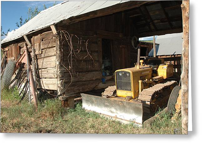 Bulldozer Greeting Cards - Dozin Off Greeting Card by Jerry McElroy