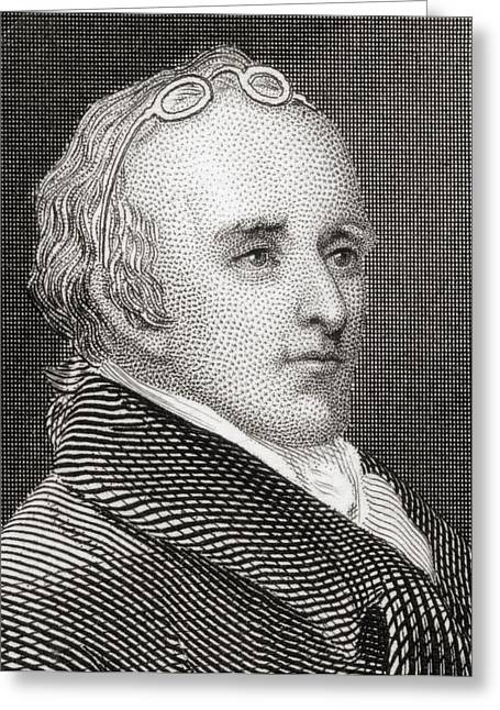 Dr Benjamin Rush 1745 To 1813. American Greeting Card by Vintage Design Pics
