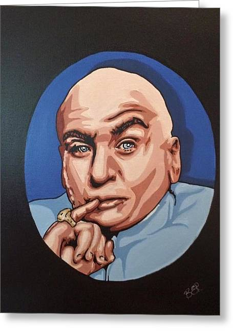 Austin Powers Greeting Cards - Dr. Evil Greeting Card by Brittany Rheaume