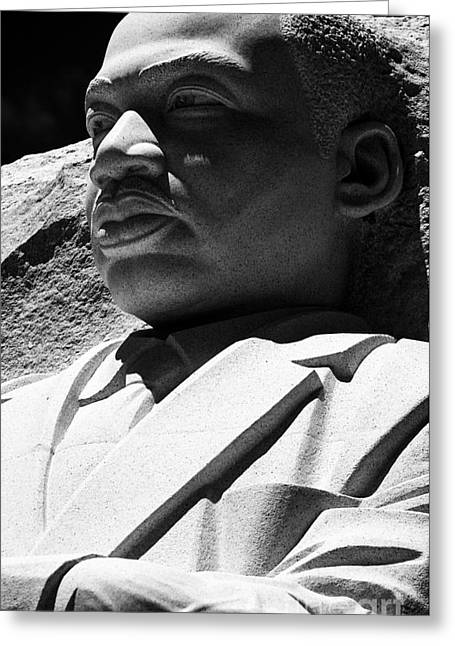 Despair Greeting Cards - Dr. Martin Luther King Greeting Card by David Bearden