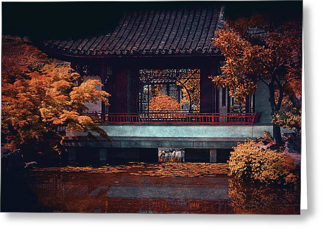 Entrance Door Greeting Cards - Dr. Sun Yat-Sen Garden Greeting Card by Maria Angelica Maira