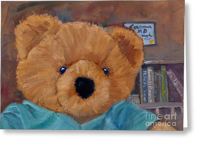 Clever Paintings Greeting Cards - Dr. Ursus Greeting Card by Mohamed Hirji