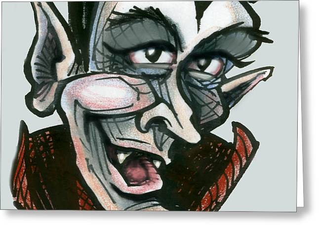 Dracula Greeting Card by Kevin Middleton