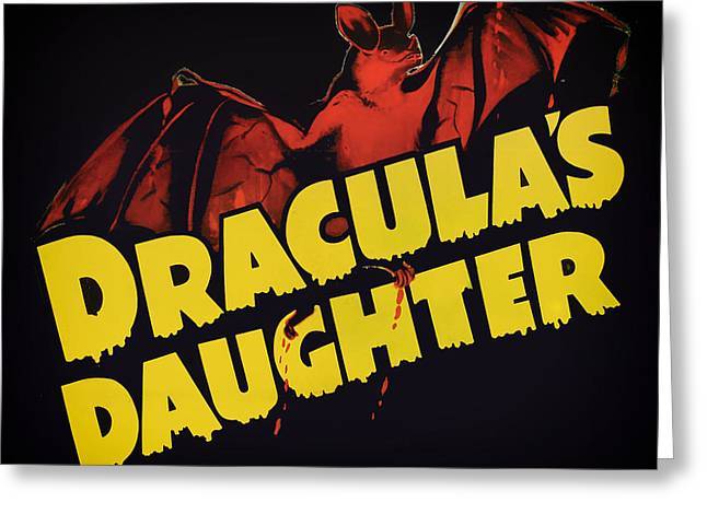 1936 Movies Greeting Cards - Draculas Daughter 1936 Greeting Card by Mountain Dreams
